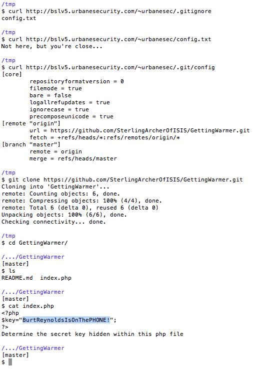 Git transcript